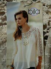 Bila lace boho blouse/top/shirt off white tan size XL NWT MSRP $52
