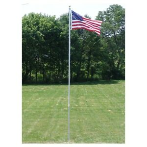 25 FT. FLAGPOLE KIT WITH (1) 3'X5' U.S.FLAG & (2) U.S. CAR ANTENNA FLAGS