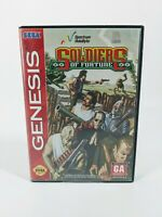 Soldiers Of Fortune Sega Genesis Game W/Case