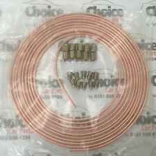 25 ft 3/16 Copper Tube Brake Pipe With 10 Male and 10 Female Fittings Nuts