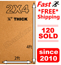 "2' x 4' x1/4"" THICK CORK ROLL 4x2 bulletin message board panel sheet wall notice"