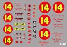 #14 Bill Vukovich Fuel Injection Special 1953 Kurtis Kraft 1/32nd Slot Car Decal