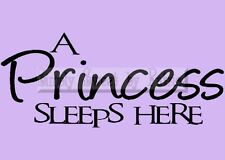 PRINCESS SLEEPS Vinyl Wall Saying Lettering Quote Decoration Decal Sign Craft