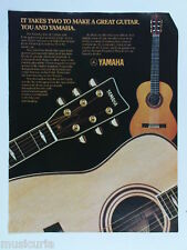 retro magazine advert 1982 YAMAHA acoustic guitars