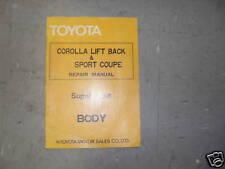 1976 Toyota Corolla Lift Back Sport Coupe Body Manual