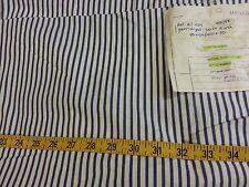 "Vintage Calvin Klein Blue & White Striped 140"" x 44"" Soft Cotton Japanese Fabric"