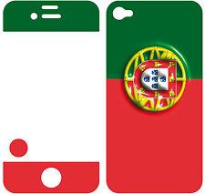 COQUE  iphone 4 EN RESINE 3D STICKERS REPOSITIONNABLE DRAPEAU PORTUGAL N° 21