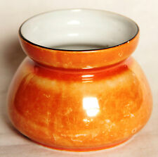 Retro Iridescent Orange Sugar Bowl - PALT Czechoslovakia