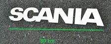 Scania Chrome Name Logo Grill Badge  80 cm x 13 cm Stainless Steel