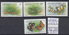 Christmas Islands 1988 serie corrente (IV) 249-52  USATO