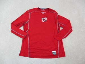 Nike Washington Nationals Shirt Adult 2XL XXL Red MLB Baseball DriFit Mens A93