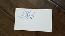 CONNIE HAWKINS SIGNED AUTO 3X5 INDEX CARD PIPERS SUNS LAKERS GLOBETROTTERS ABA