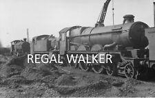 BRITISH RAIL RAILWAY STEAM PHOTO 1960'S - SCENE AT SWINDON SCRAPYARD MARCH 1963