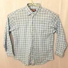Mens Vineyard Vines long sleeve plaid green/blue button up Shirt Large