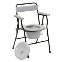 Lightweight Folding Commode Bedroom Toilet With Pan Portable and Easy Storage
