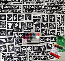 GLITTER TATTOO KIT HALLOWEEN 158 stencils glitters glue FUNDRAISERS Get 24 Free