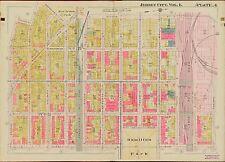 1908 JERSEY CITY HUDSON COUNTY NEW JERSEY HAMILTON PARK 2ND ST - 12 ST ATLAS MAP