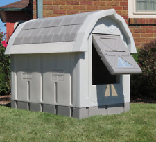 Heated Insulated Large Dog House Deluxe Dog Palace doghouse Floor Heater, New