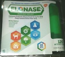 Flonase Allergy Relief 120 Metered Sprays Exp 08/2020 FREE SHIPPING