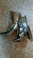 Black Croc Print Ankle Boots size 8 Brand new