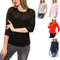 Only Damen Langarmshirt Blusenshirt Shirt Tunika Damenbluse Bluse Color Mix SALE