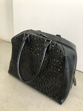 AZZEDINE ALAIA Laser Cut Tote Handbag with interior Pouch & Black Mirror