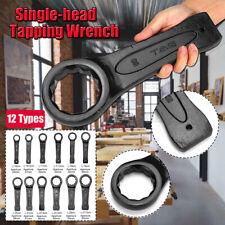 24-60mm Slogging Ring Spanner Box End Striking Wrench Slugging Hammer Black n