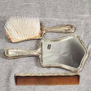 Gorham Sterling Silver Vanity Set Mirror Brush Comb Shape 27 No Monogram! Nice