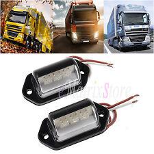 2x 3LED Rear License Number Plate Light Lamp For Truck Van Lorry Trailer 12V/24V