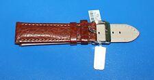 padded camel Grain 22mm Watch Strap - Brown