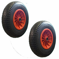 """2 x 400mm (16"""")  PUNCTURE PROOF WHEELS 4.00-8. Light Boat/Craft Launch Trolley*"""