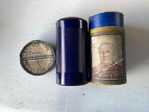 THOMAS A. EDISON 'LET US NOT FORGET' HISTORIC 1918 EDISON BLUE AMBEROL CYLINDER!