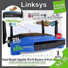 Linksys WRT1900AC-uk Dual Band Gigabit Wi Fi Router 1900Mbps WRT1900AC-UK