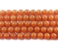 "16"" Strand Semi Precious Gemstone Red Aventurine Round Beads 4mm UK EBAYER"