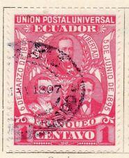 Ecuador 1895 antiguo problema Fine Used 1c. 121935
