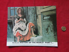 Mel Brooks  HISTORY of the WORLD PART 1  Original Movie LOBBY Card