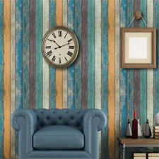 3D Vintage Wood Stripe Self Adhesive Wall Sticker Decal DIY Art Home Décor New