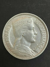 More details for 1931 latvia 5 lati 25 gram silver coin choice km#9 crown size xf40