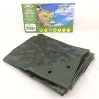 2.4m x 3m GREEN CAMOUFLAGE CAMO XT TARPAULIN  heavy duty Tarp Ground sheet