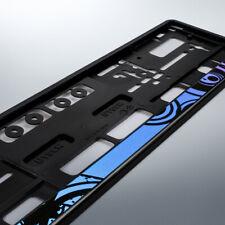 1 Kennzeichenhalter | MOTION BLUE | schwarz | Blau Lila Türkis | DHL-Versand