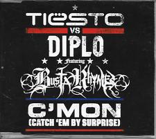 TIESTO vs DIPLO - C'mon (Catch 'em by surprise) CDM 5TR House 2011 Europe RARE!