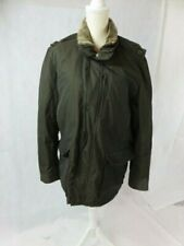 Men's Cole Haan Army Green Jacket Detachable Shearling Collar Size L