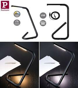 Paulmann LED Schreibtischleuchte FlexLink Akku USB Schwarz 4,5W Tunable&Dimmbar