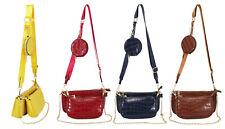 Señoras imitación cocodrilo trío 3 bolsas de hombro Bandolera clutch Cartera Mujeres Bolso de mano 6532