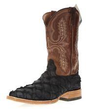 Ariat 244040 Mens Exotics Western Boots Matte Black/Big Bass Size 11 EE Wide