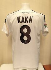 Camiseta Jersey Real Madrid Fútbol Kaka 8 XL Home 2009 2010 Blanco España