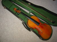 "Very nice  old ""Conservatory"" Violin violon (branding at back)"