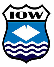 1 x Isle of Wight Static Cling Sticker Decal Ideal for Cars Bikes Windows etc