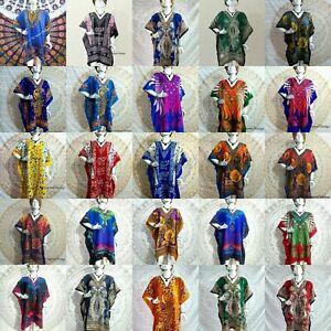 50 Assorted Pcs Wholesale Women Kaftan Short Beach Tunic Evening Dress Nightwear