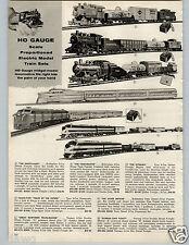 1957 PAPER AD Train HO Gauge Hobbyline Varney Tyco Talgo-Type Dynamo Meteor